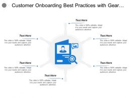 Customer Onboarding Best Practices With Gear Glass And Human Image