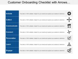 Customer Onboarding Checklist With Arrows Humans And Plus Image