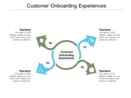 Customer Onboarding Experiences Ppt Powerpoint Presentation Infographic Template Themes Cpb