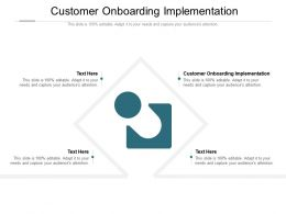 Customer Onboarding Implementation Ppt Powerpoint Presentation Slides Inspiration Cpb