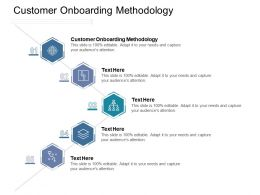 Customer Onboarding Methodology Ppt Powerpoint Presentation Outline Skills Cpb