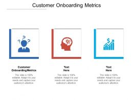 Customer Onboarding Metrics Ppt Powerpoint Presentation Icon Summary Cpb