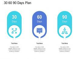 Customer Onboarding Process 30 60 90 Days Plan Ppt Slides
