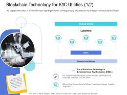 Customer Onboarding Process Blockchain Technology KYC Utilities Technology Ppt Topics