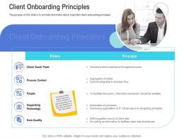 Customer Onboarding Process Client Onboarding Principles Ppt Inmation