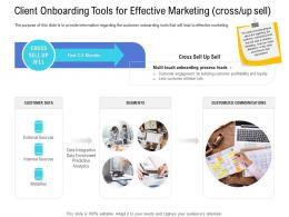 Customer Onboarding Process Client Onboarding Tools Effective Marketing Cross Up Sell Ppt Template