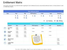 Customer Onboarding Process Entitlement Matrix Ppt Ideas