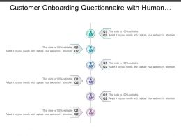 Customer Onboarding Questionnaire With Human Image In Center