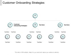 Customer Onboarding Strategies Ppt Powerpoint Presentation Model Cpb