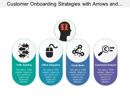Customer Onboarding Strategies With Arrows And Chess Pieces In Human Head