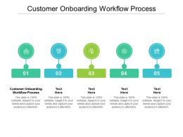 Customer Onboarding Workflow Process Ppt Powerpoint Presentation Infographics Slide Cpb