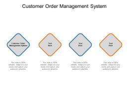 Customer Order Management System Ppt Powerpoint Presentation Layouts Pictures Cpb