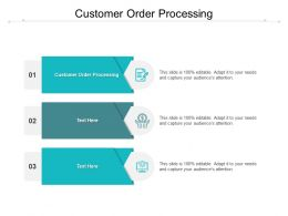 Customer Order Processing Ppt Powerpoint Presentation Icon Graphic Images Cpb