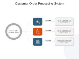 Customer Order Processing System Ppt Powerpoint Presentation Professional Cpb