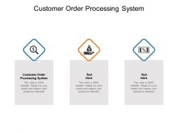 Customer Order Processing System Ppt Powerpoint Presentation Slides Cpb