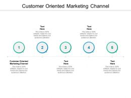 Customer Oriented Marketing Channel Ppt Powerpoint Presentation Styles Introduction Cpb