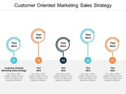 Customer Oriented Marketing Sales Strategy Ppt Powerpoint Presentation Infographic Template Model Cpb