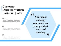 Customer Oriented Multiple Business Quotes