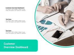 Customer Overview Dashboard Ppt Powerpoint Presentation Infographics Backgrounds Cpb