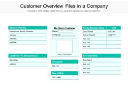 Customer Overview Files In A Company