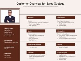 Customer Overview For Sales Strategy