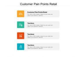 Customer Pain Points Retail Ppt Powerpoint Presentation Infographics Background Images Cpb