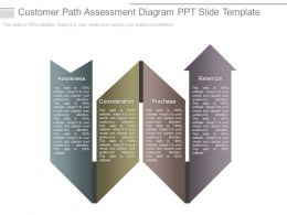 Customer Path Assessment Diagram Ppt Slide Template
