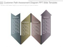 Customer Path Assessment Diagram Ppt Slide Template