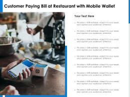 Customer Paying Bill At Restaurant With Mobile Wallet