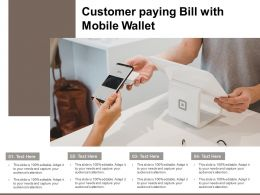 Customer Paying Bill With Mobile Wallet