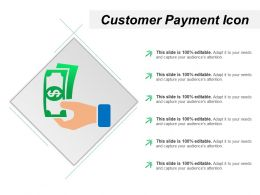 Customer Payment Icon Powerpoint Presentation