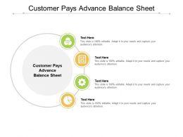 Customer Pays Advance Balance Sheet Ppt Powerpoint Presentation Inspiration Files Cpb