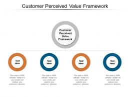 Customer Perceived Value Framework Ppt Powerpoint Presentation Infographic Template Icon Cpb