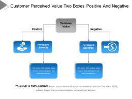Customer Perceived Value Two Boxes Positive And Negative