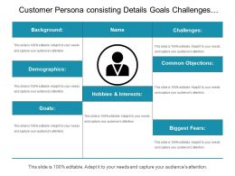 Customer Persona Consisting Details Goals Challenges Common Objectives