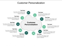 Customer Personalization Ppt Powerpoint Presentation Gallery Infographics Cpb