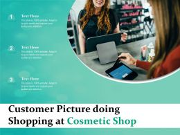 Customer Picture Doing Shopping At Cosmetic Shop