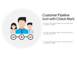 Customer Pipeline Icon With Check Mark