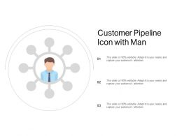 Customer Pipeline Icon With Man