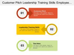 Customer Pitch Leadership Training Skills Employee Engagement Survey