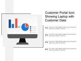 Customer Portal Icon Showing Laptop With Customer Data