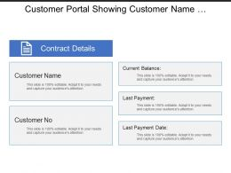 Customer Portal Showing Customer Name And Contract Detail