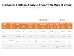 Customer Portfolio Analysis Sheet With Market Value