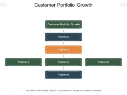 Customer Portfolio Growth Ppt Powerpoint Presentation Portfolio Sample Cpb