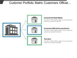 Customer Portfolio Matrix Customers Official Success Factors Strategies Manage Relationship