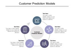 Customer Prediction Models Ppt Powerpoint Presentation Professional Guide Cpb