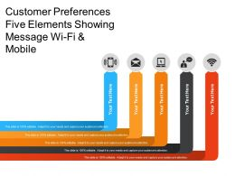 Customer Preferences Five Elements Showing Message Wi Fi And Mobile