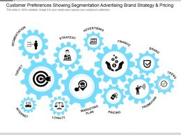 Customer Preferences Showing Segmentation Advertising Brand Strategy And Pricing