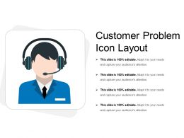 Customer Problem Icon Layout