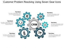 Customer Problem Resolving Using Seven Gear Icons